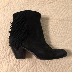 Sam Edelman Black Suede Moccasin Booties